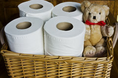 бумажный туалет Стоковые Фотографии RF