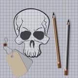 бумажный череп Стоковые Изображения RF