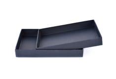 Бумажный черный ящик на белой предпосылке Стоковые Фотографии RF
