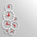 Бумажный шаблон предпосылки, плаката или рогульки конспекта часов Стоковое Изображение