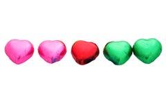 Бумажный шоколад сердца 5 обруча стоковые изображения