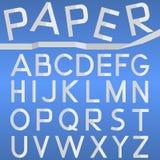Бумажный шрифт Стоковые Фото