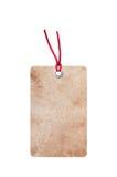 Бумажный ярлык изолированный на белизне Стоковые Изображения