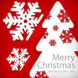 Бумажный applique снежинок Стоковая Фотография RF