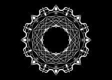 Бумажный doily шнурка Мандала вырезывания лазера Белый орнамент силуэта Круговой орнамент Круглая решетка Шаблон вектора для бума бесплатная иллюстрация