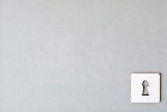 Бумажный keyhole Стоковые Изображения