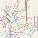 бумажный paperclip Иллюстрация вектора