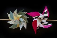 Бумажный pinwheel цветка ветрянки Стоковое Фото