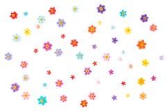 Бумажный quilling, красочная бумага объезжает предпосылку Стоковые Изображения RF