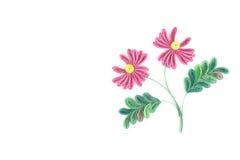Бумажный quilling, цветастые бумажные цветки Стоковая Фотография RF