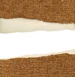 бумажным ваше проекта текстурированное шаблоном сорванное Стоковая Фотография RF