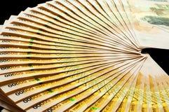 50.000 бумажных денег шиллинга Уганды Стоковое Фото