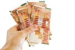 200 бумажных денег шекеля Стоковое Изображение RF