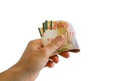200 бумажных денег шекеля Стоковое Фото