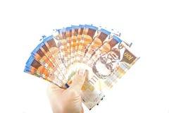 100 бумажных денег шекеля Стоковое Изображение RF