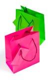 2 изолировали бумажные мешки Стоковое Изображение RF