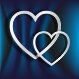 2 бумажных сердца Стоковые Фото