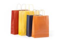 4 бумажных сумки Стоковая Фотография