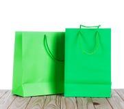 2 бумажных хозяйственной сумки Стоковые Изображения RF