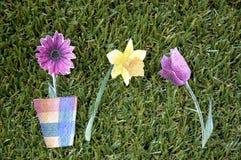 3 бумажных цветка Стоковое Изображение RF