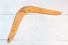 Бумеранг на белизне Стоковые Изображения RF