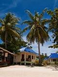 бунгала пляжа тропические Стоковые Фотографии RF