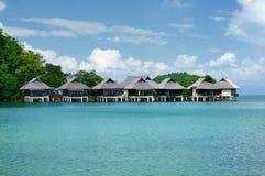 Бунгало Tantawan, курорт Tantawan, южная оконечность острова Chang Koh, Таиланда стоковое изображение rf