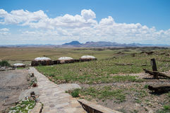 Бунгала ложи в пустыне благоустраивают около пасьянса, Намибии Стоковое Фото