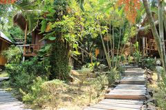 Бунгало в zhipling на острове Koh Chang Стоковое Изображение RF