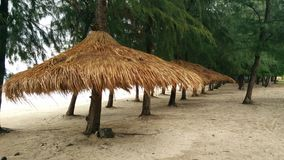 бунгало на пляже Таиланда Стоковые Фотографии RF