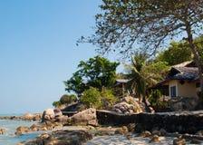 Бунгало с видом на море стоковое изображение rf