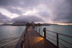 Бунгало overwater Bora Bora Стоковое Изображение