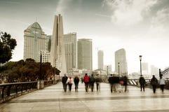 Бунд в Шанхае, Китае стоковые изображения rf