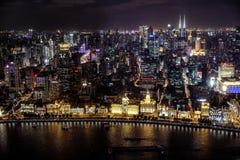 Бунд Шанхая от Пудуна стоковое изображение