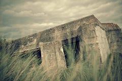 Бункер в Нормандии стоковое изображение rf