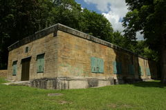 Бункер Гитлера в Margival, Эне, Picardie в севере Франции стоковое изображение