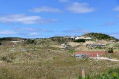 Бункер Vlieland раскопк стоковое фото rf