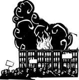 Бунт в Балтиморе Стоковая Фотография