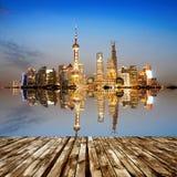 Бунд в Шанхае стоковое фото rf