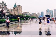 Бунд Шанхай, фарфор стоковые изображения rf