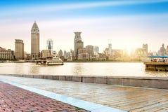 Бунд Шанхая северный стоковые фотографии rf