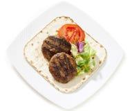 2 бургера с салатом Стоковое фото RF