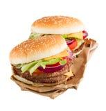 2 бургера Стоковое Изображение
