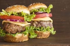 Бургеры мяса стоковая фотография