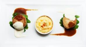 Бургеры с картофельными пюре Стоковые Фото