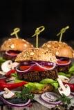 Бургеры Vegan Стоковые Фото