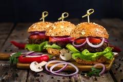 Бургеры Vegan Стоковое фото RF