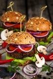 Бургеры Vegan Стоковые Изображения RF