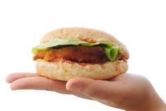 Бургер, быстро-приготовленное питание Стоковое фото RF