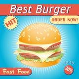 бургер вкусный Стоковое Фото